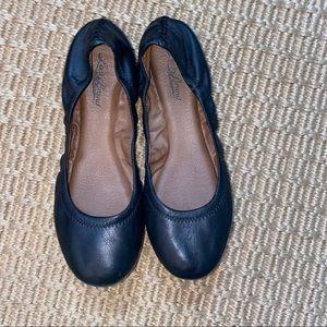 LUCKY BRAND    black ballerina flats size 7